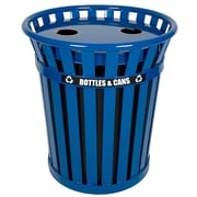 Witt Wydman 36-Gal Outdoor Industrial Recycling Bin; Blue