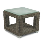 Patio Heaven Palisades End Table Base w/ Tempered Glass Top