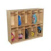 Wood Designs 20-Section Box Locker; Translucent