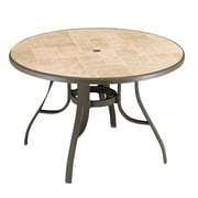 Grosfillex Commercial Resin Furniture Toscana Dining Table; Bronze Mist