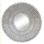 Ultimate Accents  Sunburst Wall Mirror; Silver