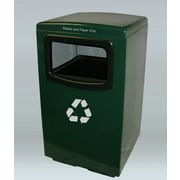 Allied Molded Products Amber 50-Gal Industrial Recycling Bin; Bone