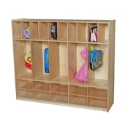 Wood Designs 4-Section Cubbies Locker