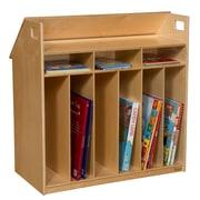 Wood Designs Birch Book Display with Storage