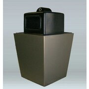 Allied Molded Products St. Louis 50-Gal Side Opening w/ Hide-A-Butt Industrial Recycling Bin; Blue