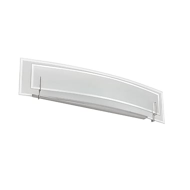 Dainolite Clear/Frosted Glass Vanity 3 Light Bath Bar