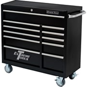 Extreme Tools 41.5'' Wide 5 Drawer Bottom Cabinet; Textured Black