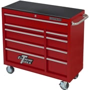 Extreme Tools 41.5'' Wide 5 Drawer Bottom Cabinet; Textured Red