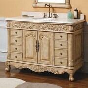 James Martin Furniture Parchment 48'' Single Light Wood Bathroom Vanity Set