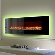 Dynasty LED Wall Mount Electric Fireplace; Pebble