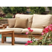 Three Birds Casual Monterey Deep Seating Loveseat with Cushions; Antique Beige Rib