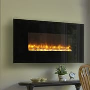 Dynasty LED Wall Mount Electric Fireplace; Log