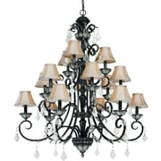 Dolan Designs Florence 15 Light Shaded Chandelier