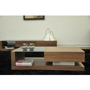 Beliani Porto Contemporary Coffee Table with Glass Top
