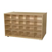 Wood Designs Mobile Island 20 Compartment Cubby; No Tray
