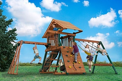 Backyard Play Systems Explorer's Station Swing Set WYF078276059970