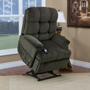 Med-Lift 5555 Series Sleeper / Reclining Lift Chair with Extra Magazine Pocket; Cabo - Sage