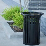 Frog Furnishings Providence 32-Gal Steel Receptacle; Black