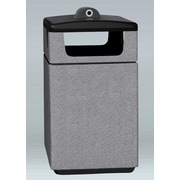 Allied Molded Products Boulevard 60-Gal Square Side Load Industrial Trash Bin; Laguna