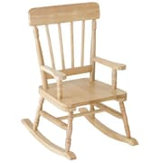 Levels of Discovery Simply Classic Kids Rocking chair; Oak Finish