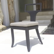 Dann Foley Rodeo Stacking Dining Side Chair with Cushion
