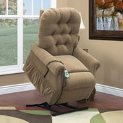 Med-Lift 25 Series 3 Position Lift Chair with Extra Magazine Pocket; Bromley - Havana