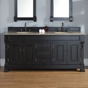 James Martin Furniture Brookfield 72'' Double Bathroom Vanity Base; Antique Black