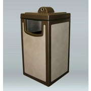 Allied Molded Products 45-Gal Pahokee Trash/Ash Industrial Trash Bin; Violet