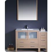Fresca Torino 48'' Single Modern Bathroom Vanity Set with Mirror; Light Oak