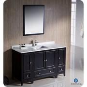 Fresca Oxford 54'' Single Traditional Bathroom Vanity Set w/ Mirror; Espresso