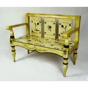 AA Importing Floral Painted Bench
