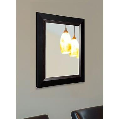 Rayne Mirrors Brown Grain Black Wall Mirror; 35.75'' H x 29.75'' W x 0.75'' D