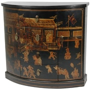 Oriental Furniture Hallway 4 Drawer Cabinet; Black Lacquer