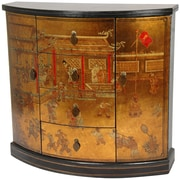 Oriental Furniture Hallway 4 Drawer Cabinet; Gold Leaf