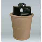 Allied Molded Products Havana 35-Gal Side Opening Hide-A-Butt Receptacle; Charcoal