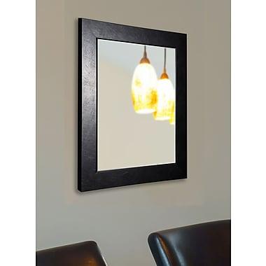 Rayne Mirrors Ava Executive Black Wall Mirror; 25.5'' H x 21.5'' W x 0.75'' D