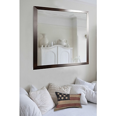 Rayne Mirrors Ava Large Flat Stainless Wall Mirror; 34'' H x 28'' W x 0.75'' D