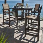 POLYWOOD  Coastal 5 Piece Bar Dining Set