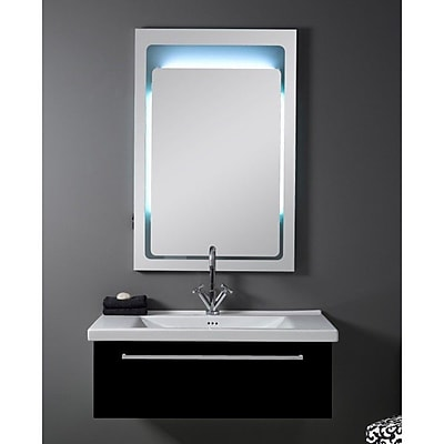 Iotti by Nameeks Fly 36'' Single Bathroom Vanity Set with Mirror; Glossy Black