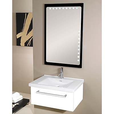 Iotti by Nameeks Fly 29'' Single Bathroom Vanity Set with Mirror; Glossy White