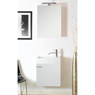 Iotti by Nameeks Lola 21'' Single Wall Mounted Bathroom Vanity Set with Mirror; Glossy White