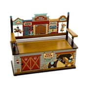 Levels of Discovery Wild West Kids Bench w/ Storage Compartment