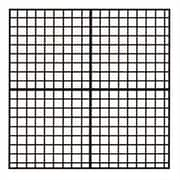 Marsh Coordinates Magnetic Graphic/Grid Whiteboard, 4' H x 4' W