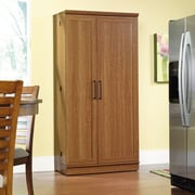 Sauder HomePlus 2 Door Storage Cabinet; Sienna Oak