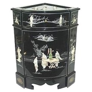 Oriental Furniture Chinese 8 Ladies Corner Cabinet
