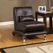 Hokku Designs Sewell Leather Chair; Espresso