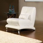 Hokku Designs Sewell Leather Chair; White