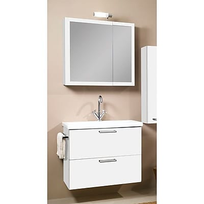 Iotti by Nameeks Luna 30'' Single Bathroom Vanity Set with Mirror; Glossy White