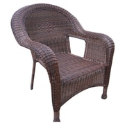 Oakland Living Resin Wicker Arm Chair (Set of 2); Coffee