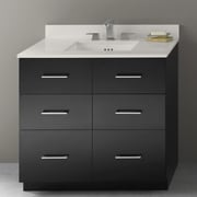 Ronbow Lassen 36'' Eco-Friendly Bathroom Vanity Cabinet Base in Black